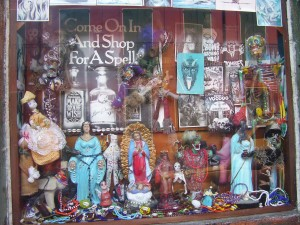 New Orleans voodoo shop window